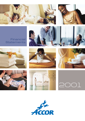 Accor annual report 2001