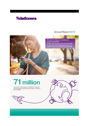 TeliaSonera annual report 2012