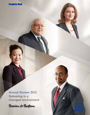 Deutsche Bank annual report 2012