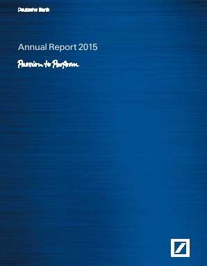 Deutsche Bank annual report 2015