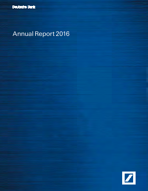 Deutsche Bank annual report 2016