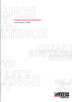 Lanxess annual report 2015