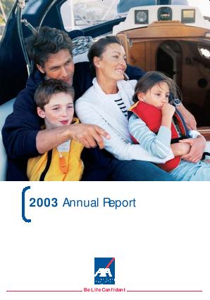 AXA annual report 2003