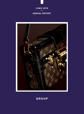LVMH Moet Hennessy Louis Vuitton annual report 2015