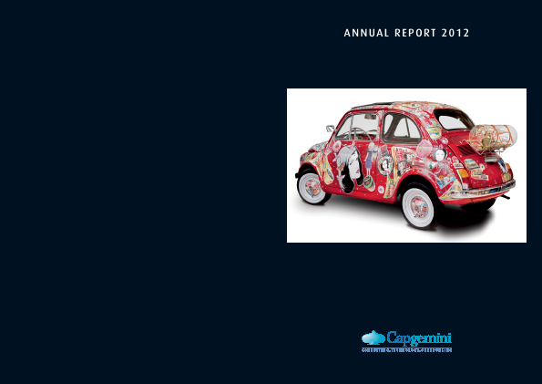Cap Gemini annual report 2012