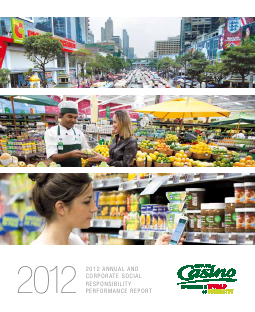 Casino Guichard-Perrachon annual report 2012
