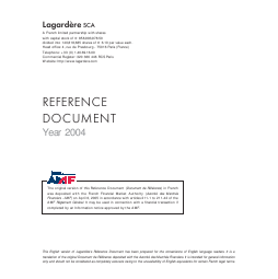 Lagardere Groupe annual report 2004