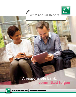BNP Paribas annual report 2012