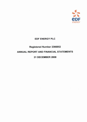 EDF Electricite de France annual report 2008