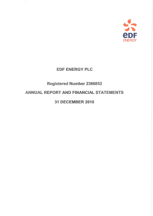Electricite de France annual report 2010