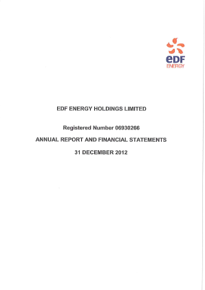 Electricite de France annual report 2012