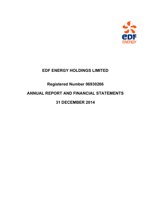 Electricite de France annual report 2014