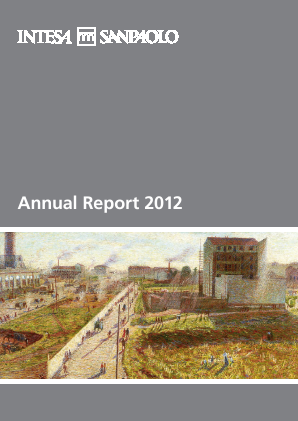 Intesa Sanpaolo annual report 2012