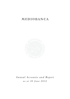 Mediobanca annual report 2012