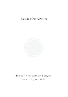 Mediobanca annual report 2015
