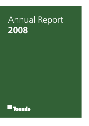 Tenaris annual report 2008