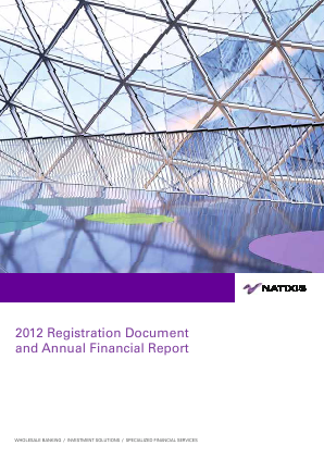 Natixis annual report 2012