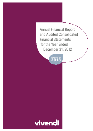 Vivendi annual report 2012
