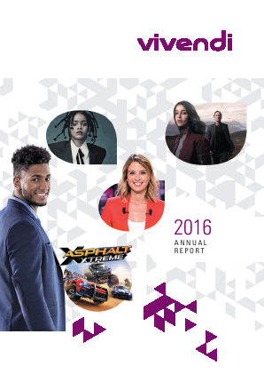 Vivendi annual report 2016