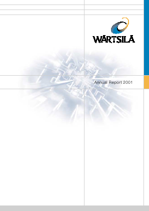 Wartsila annual report 2001