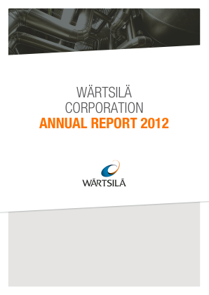 Wartsila annual report 2012