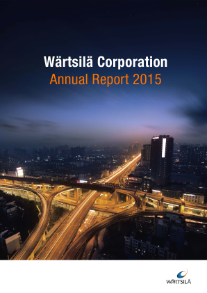 Wartsila annual report 2015
