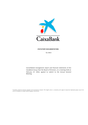 CaixaBank annual report 2013