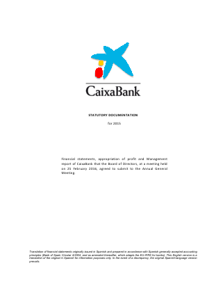 CaixaBank annual report 2015
