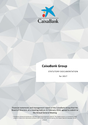 CaixaBank annual report 2017