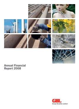 Groupe Bruxelles Lambert annual report 2008