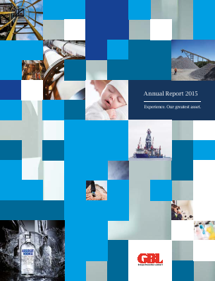 Groupe Bruxelles Lambert annual report 2015