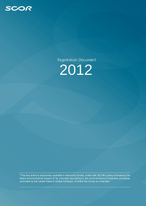 Scor annual report 2012