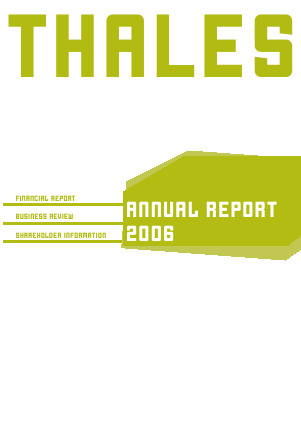 Thales annual report 2006