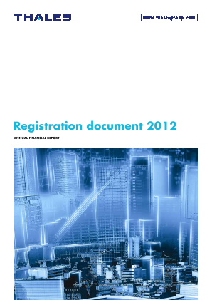Thales annual report 2012