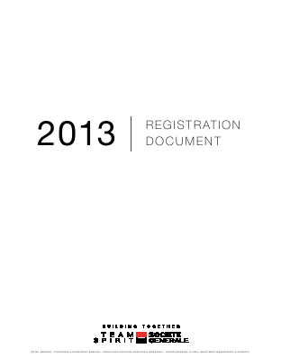 Societe Generale annual report 2012