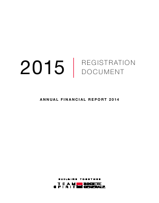 Societe Generale annual report 2014