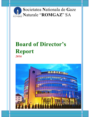 Societatea Natl De Gaze N Romgaz SA annual report 2016