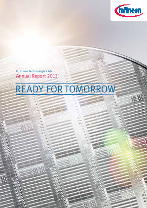 Infineon Technologies annual report 2013
