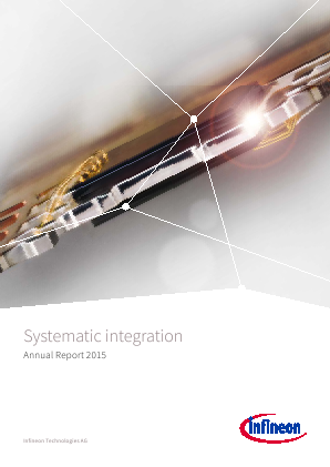 Infineon Technologies annual report 2015