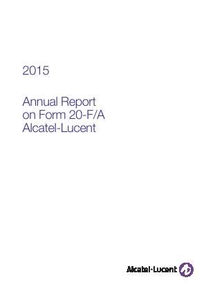 Alcatel-Lucent annual report 2015