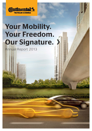 Continental annual report 2013