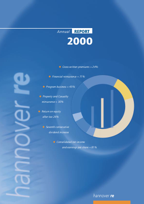 Hannover Rueck annual report 2000