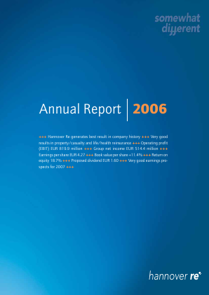 Hannover Rueck annual report 2006