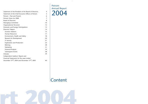 OMV Petrom annual report 2004