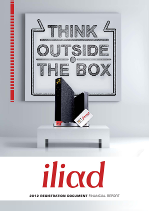 Iliad annual report 2012