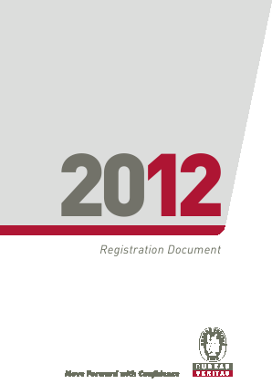 Bureau Veritas International annual report 2012