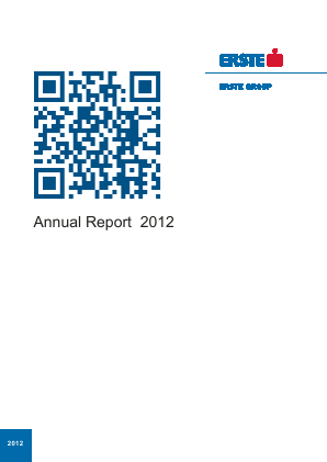 Erste Group Bank annual report 2012