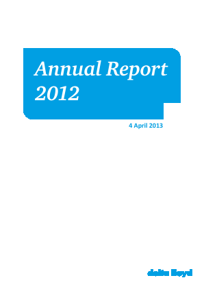 Delta Lloyd Group annual report 2012