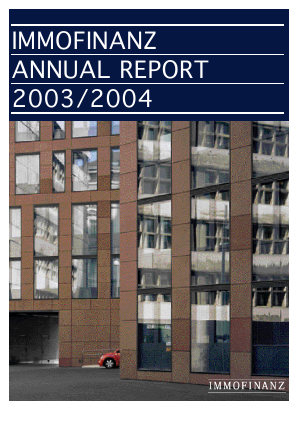 Immofinanz annual report 2004