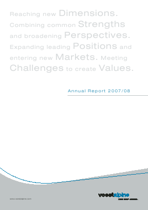 Voestalpine annual report 2008